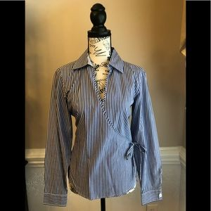 Tommy Hilfiger Navy and White Stripe Top